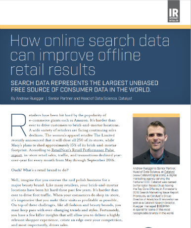 "Andrew Ruegger's ""How online search data can improve offline retail results"""